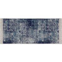 Vinyl Teppich MATTEO Used Rug Blue 50 x 120 cm