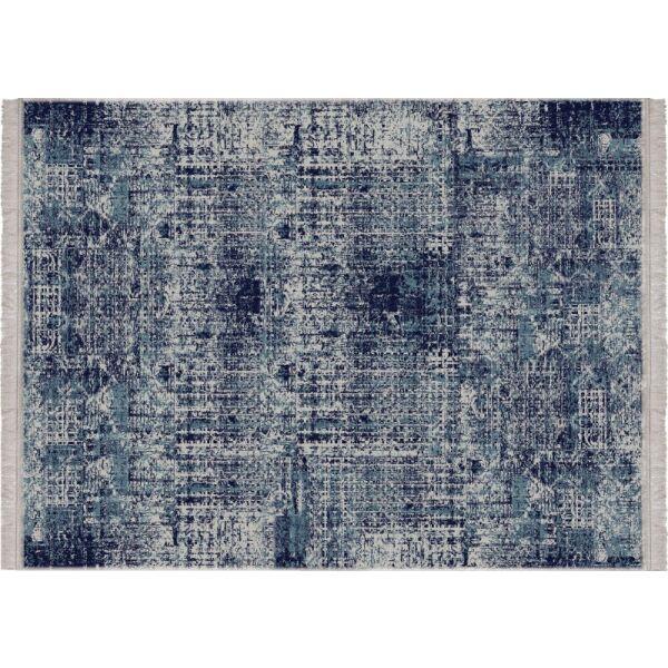 Vinyl Teppich MATTEO Used Rug Blue 198 x 300 cm