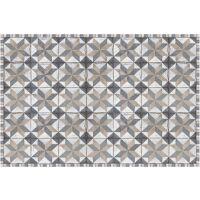 Vinyl Teppich MATTEO Tiles Used Style Blue-Beige