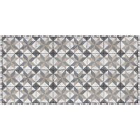 Vinyl Teppich MATTEO Tiles Used Style Blue-Beige 50 x 120 cm
