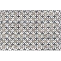 Vinyl Teppich MATTEO Tiles Used Style Blue-Beige 118 x 180 cm