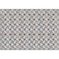 Vinyl Teppich MATTEO Tiles Used Style Blue-Beige 140 x 200 cm