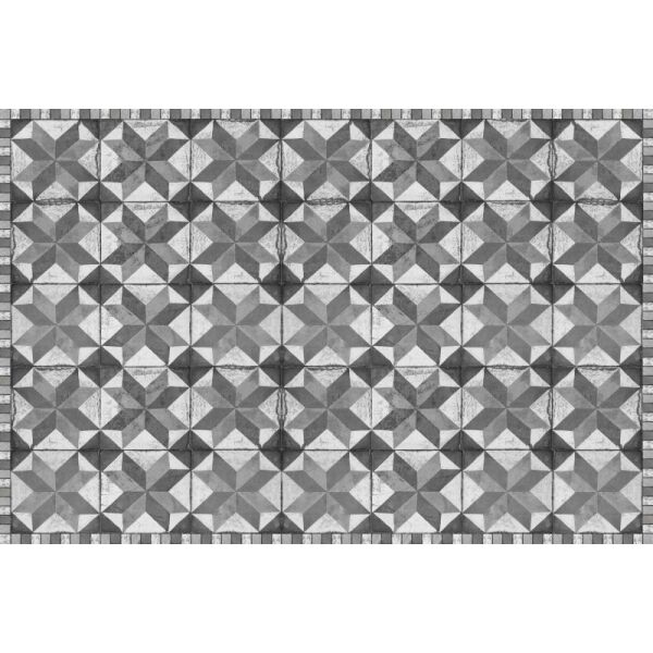 Vinyl Teppich MATTEO Tiles Used Style Grey