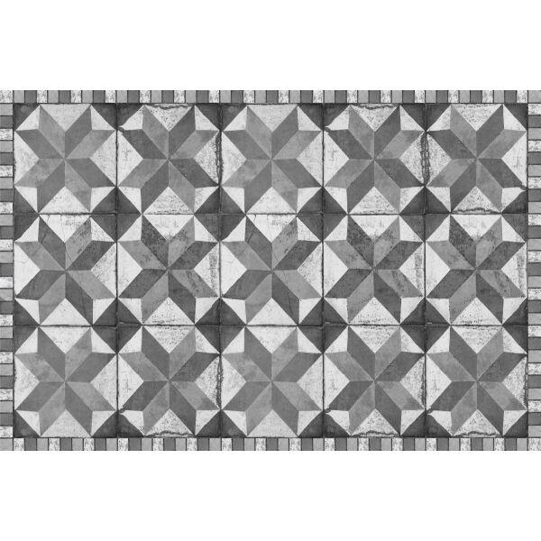 Vinyl Teppich MATTEO Tiles Used Style Grey 40 x 60 cm