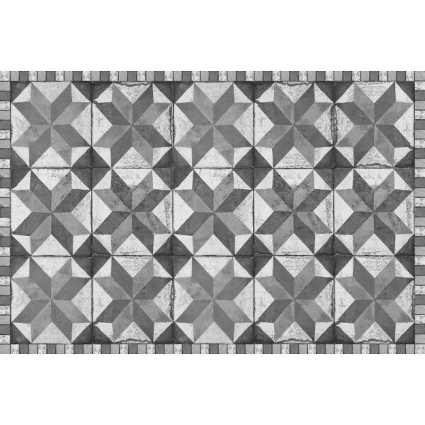 Vinyl Teppich MATTEO Tiles Used Style Grey 60 x 90 cm