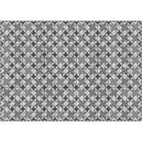 Vinyl Teppich MATTEO Tiles Used Style Grey 198 x 300 cm
