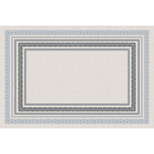 Vinyl Teppich MATTEO Embroidery blue 60 x 90 cm