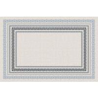 Vinyl Teppich MATTEO Embroidery blue 118 x 180 cm