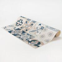 Vinyl Teppich MATTEO Embroidery blue 198 x 300 cm