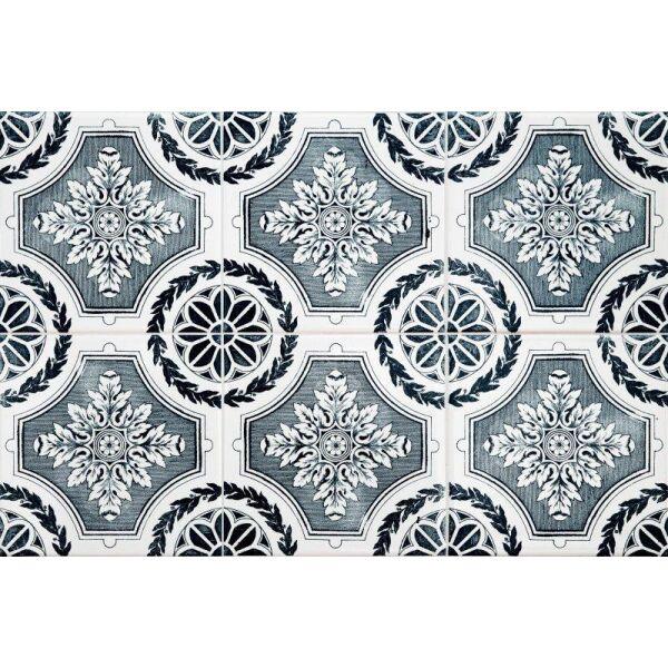 Vinyl Teppich MATTEO Tiles royal petrol rim 40 x 60 cm