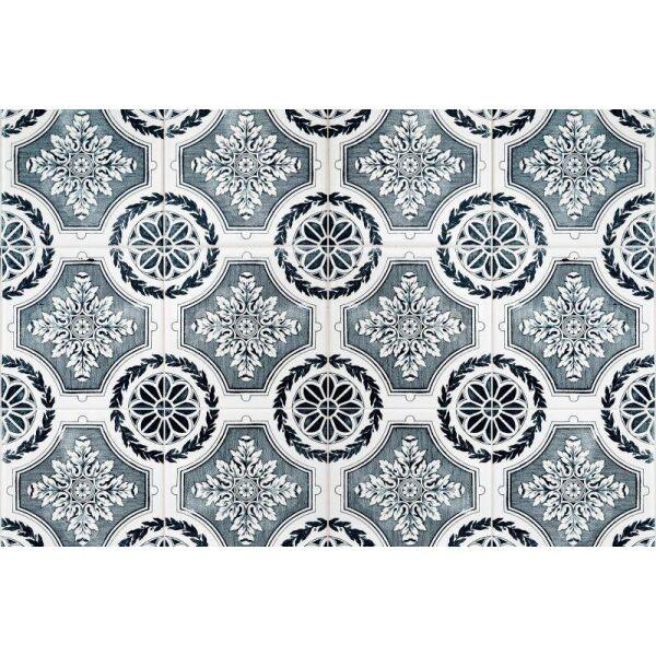 Vinyl Teppich MATTEO Tiles royal petrol rim 60 x 90 cm