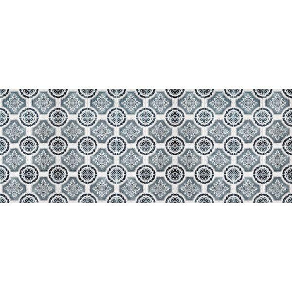 Vinyl Teppich MATTEO Tiles royal petrol rim 70 x 180 cm