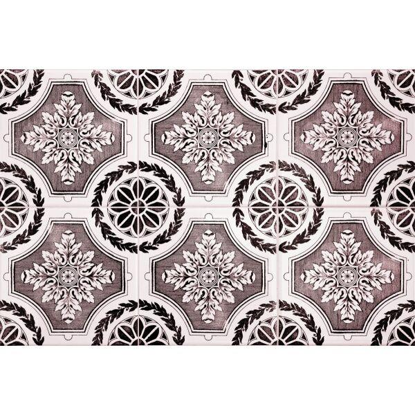 Vinyl Teppich MATTEO Tiles royal rust red 40 x 60 cm