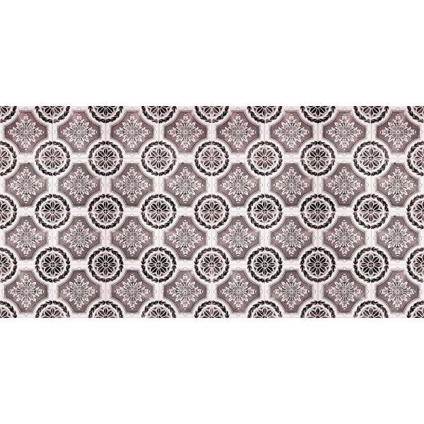 Vinyl Teppich MATTEO Tiles royal rust red 70 x 140 cm