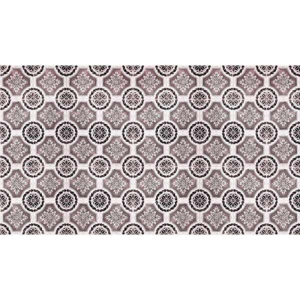 Vinyl Teppich MATTEO Tiles royal rust red 90 x 160 cm