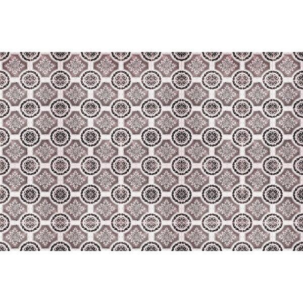 Vinyl Teppich MATTEO Tiles royal rust red 118 x 180 cm