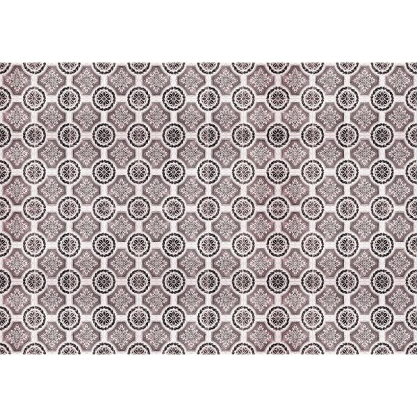 Vinyl Teppich MATTEO Tiles royal rust red 140 x 200 cm
