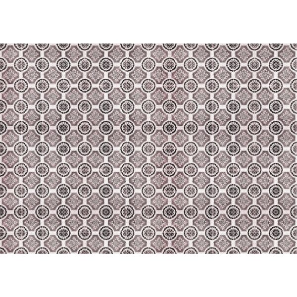 Vinyl Teppich MATTEO Tiles royal rust red 170 x 240 cm