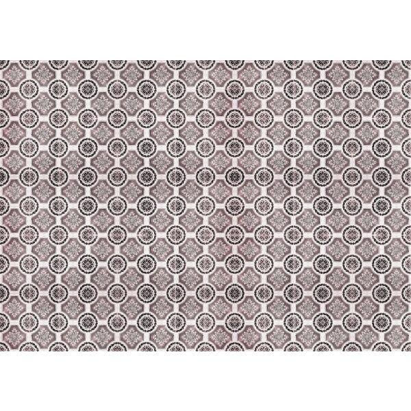 Vinyl Teppich MATTEO Tiles royal rust red 198 x 300 cm