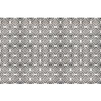 Vinyl Teppich MATTEO Tiles royal brown 118 x 180 cm