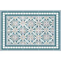 Vinyl Teppich MATTEO Tiles Morrocan blue 40 x 60 cm