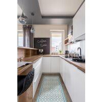 Vinyl Teppich MATTEO Tiles Morrocan blue 70 x 180 cm