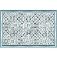 Vinyl Teppich MATTEO Tiles Morrocan blue 90 x 135 cm