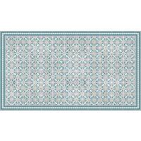 Vinyl Teppich MATTEO Tiles Morrocan blue 90 x 160 cm