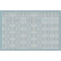 Vinyl Teppich MATTEO Tiles Morrocan blue 198 x 300 cm