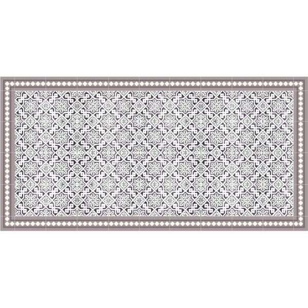Vinyl Teppich MATTEO Tiles Morrocan rose 70 x 140 cm