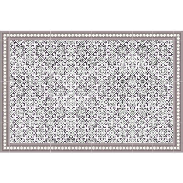 Vinyl Teppich MATTEO Tiles Morrocan rose 90 x 135 cm