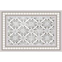 Vinyl Teppich MATTEO Tiles Morrocan beige 40 x 60 cm