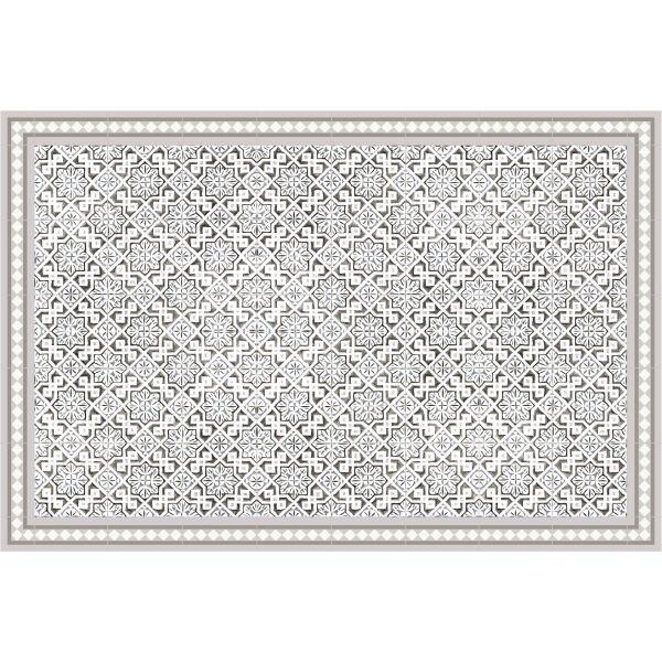 Vinyl Teppich MATTEO Tiles Morrocan beige 90 x 135 cm