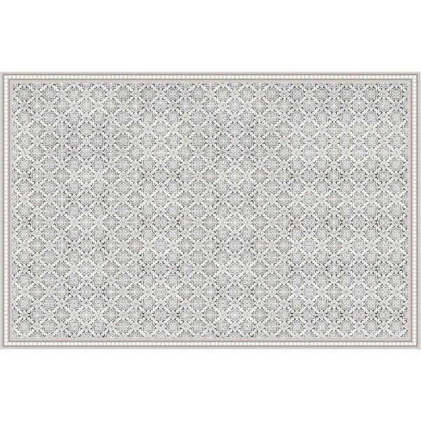 Vinyl Teppich MATTEO Tiles Morrocan beige 198 x 300 cm