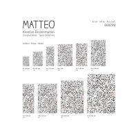 Vinyl Teppich MATTEO Tiles portugese black 70 x 180 cm