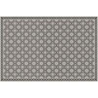 Vinyl Teppich MATTEO Tiles portugese black 90 x 135 cm