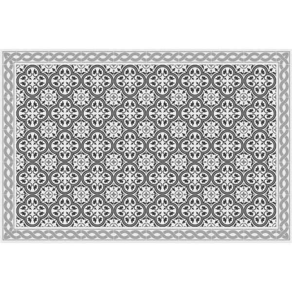 Vinyl Teppich MATTEO Tiles portugese grey 60 x 90 cm