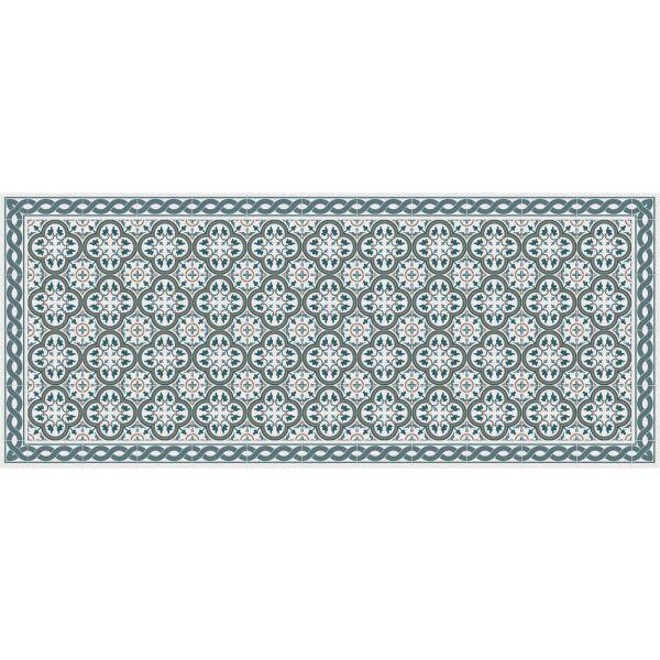 Vinyl Teppich MATTEO Tiles portugese Blue 50 x 120 cm