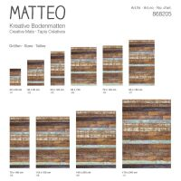 Vinyl Teppich MATTEO Treibholz 70 x 140 cm