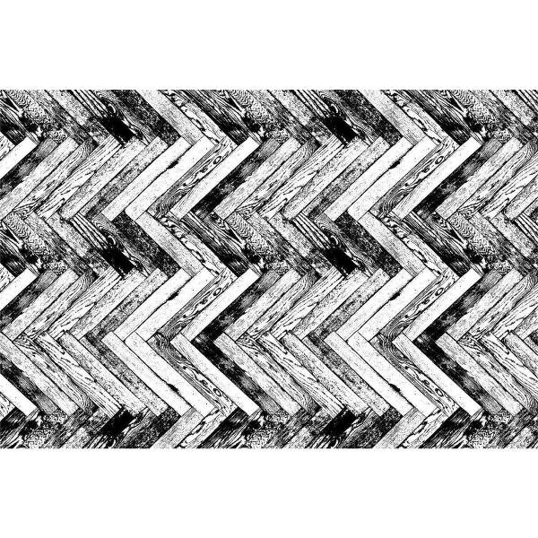 Vinyl Teppich MATTEO Natural 1 Fischgräten 40 x 60 cm
