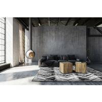Vinyl Teppich MATTEO Natural 1 Fischgräten 60 x 90 cm