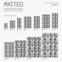 Vinyl Teppich MATTEO Natural 1 Fischgräten 50 x 120 cm