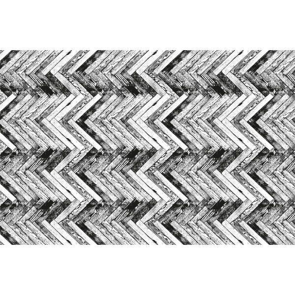 Vinyl Teppich MATTEO Natural 1 Fischgräten 198 x 300 cm