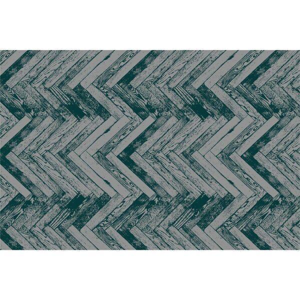 Vinyl Teppich MATTEO Natural 2 Fischgräten dunkelgrün 40 x 60 cm