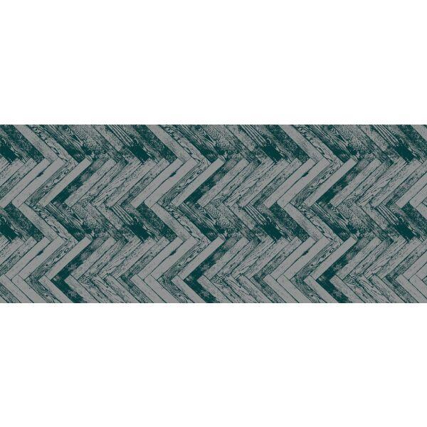 Vinyl Teppich MATTEO Natural 2 Fischgräten dunkelgrün 50 x 120 cm