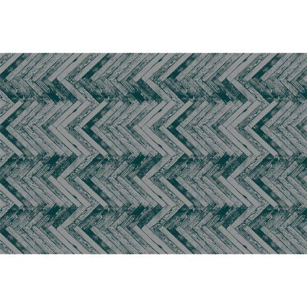 Vinyl Teppich MATTEO Natural 2 Fischgräten dunkelgrün 118 x 180 cm