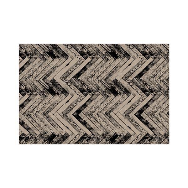 Vinyl Teppich MATTEO Natural 3 Fischgräten 40 x 60 cm
