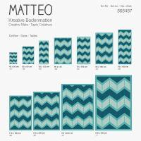 Vinyl Teppich MATTEO Scandinavian 13 Türkis 50 x 120 cm