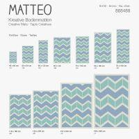 Vinyl Teppich MATTEO Scandinavian 14 grün/blau 50 x 120 cm