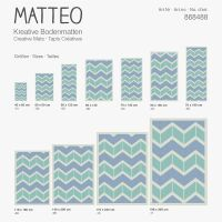 Vinyl Teppich MATTEO Scandinavian 14 grün/blau 118 x 180 cm